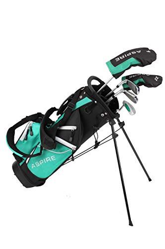 Aspire Golf Junior Plus Complete Golf Club Set for Children Kids
