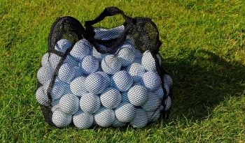 What were the First Golf Balls made of?